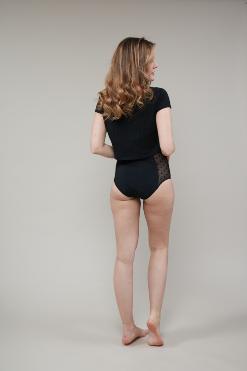 High-waist Rhéa Plumetis Brief